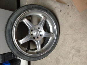 "Mag Bad Boy 17"" 4x100mm avec pneu falken 205/40"