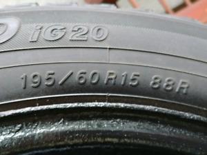 "15"" Yokohama Winter Tires on Rims $100 Honda Civic"