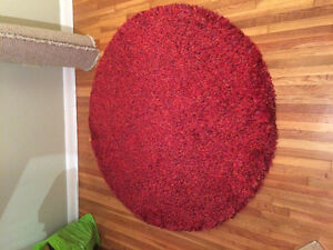 Round red rug for sale