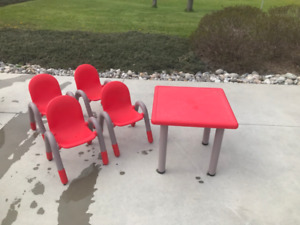 Kids' Play Table and 4 Chairs (by Global)