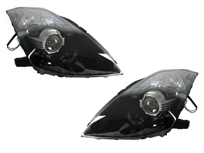 DEPO JDM-Style Black D2S Housing Projector Headlights For 2003-2009 Nissan 350Z