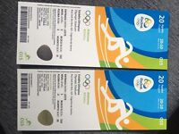 2 X OLYMPIC ATHLETICS TICKETS 20TH AUGUST NIGHT TIME