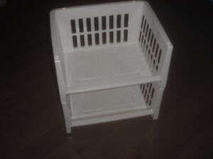 Lot of 2 Sterilite Stacking Basket ,kitchen, home office space