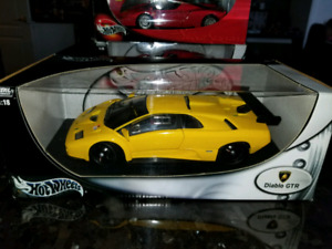 1:18 Diecast Hot Wheels Lamborghini Diablo GTR Yellow