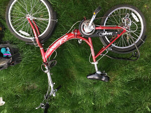 Schwinn foldable bike red