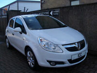 10 60 REG VAUXHALL CORA 1.2 16V ENERGY LTD EDITION 5DR WHITE 34550 MILES ALLOYS