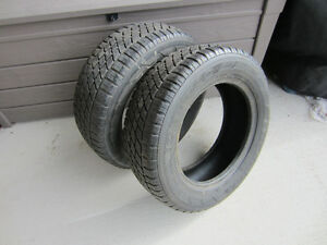 2 NORDIC ICE TRAC TIRES ,185XR65X14, GOOD TREAD (NO REPAIRS)$50.