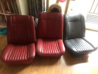 Original genuine Red leather triumph Vitesse/Herald front seats