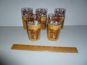 Funky 40s 50s Western themed glasses