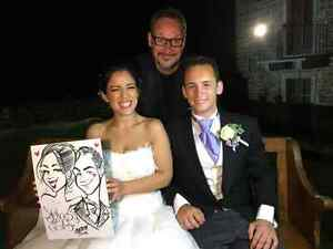 the wedding caricature  West Island Greater Montréal image 2