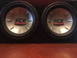 "Selling 2 10"" Thunder 6000 MTX Audio Subwoofers"