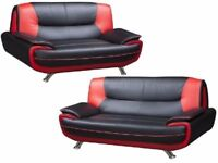 🚚🚛MAY SALE NOW ON🚚🚛 NEW PALERMO CAROL FAUX LEATHER 3 + 2 SEATER SOFA SET AT VERY CHEAP PRICE