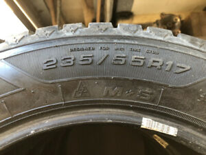 4 Winter Tires 235/55/17 Goodyear