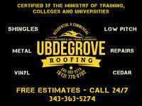 Ubdegrove Roofing - 45+Years Experience - Certificate No. 409720