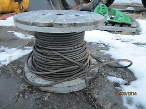 "250 feet of 3/4"" steel cable off 70 ton crane $500.00"