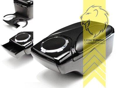 Armlehne Mittelarmlehne Leder Bezug Schwarz Weiß für Hyundai i10 II ab 2014