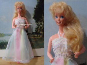 Vintage Superstar Happy Birthday Barbie Doll #1922 Rainbow Dress