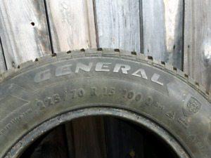 Two General Altimax Arctic winter tires 225/70/R15