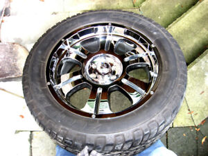 MB Motoring deluxe chrome rims with tires