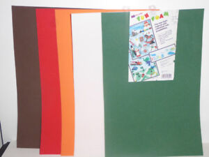 5 LARGE FOAM SHEETS FOR ARTS & CRAFTS PROJECTS - UNUSED