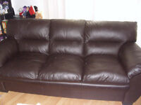 Leather couch and chair for $400 OBO