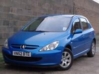 2002 Peugeot 307 2.0HDi 90 Rapier***GENUINE LOW MILES 59K + 1 PRE OWNER***
