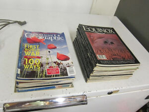 Pile of Equinox and Canadian Geographic Magazines - updated