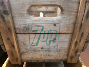 7-UP wood crate