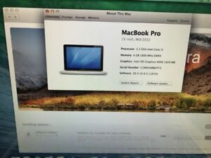 2012. MacBook Pro i5 for less. Only cash and pickup