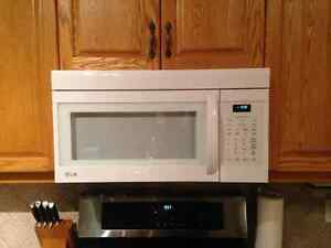 Almost new LG Over the Range Microwave