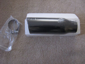Exhaust Tip Stainless Steel w/Clamp 4x12x3 ID Blk Magnaflow