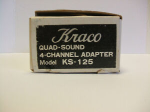 Kraco KS-125 Quad-sound 4-channel adapter