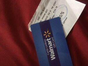 Wal-Mart Gift Card (Valued of $154.78)
