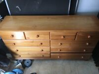Solid pine multi drawer cabinet