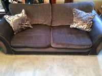 DFS 3 seater sofa and matching DFS swivel chair