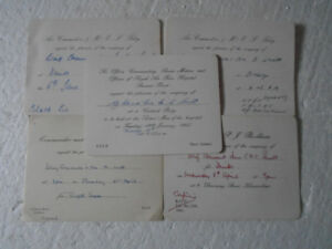 1965 Royal Air Force Hospital Steamer point Invitation + 4 Other