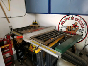 Craftex 10 inch table saw and extras