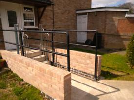 Metal handrails / grab rails
