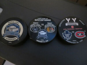 Toronto Maple Leafs Commemorative Official Licensed NHL Pucks