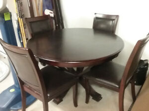 Round 48 inch wide table with 4 chairs