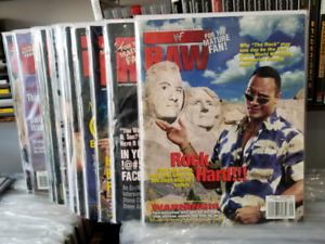 1990s WWF WWE Wrestling Raw Magazines $10 Each!