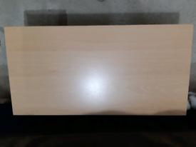 Small beech table/tv unit
