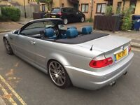 BMW M3 convertible 2004 3.2 sequential 2dr sliver soft top