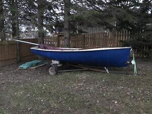 15' albacore sailboat and trailer