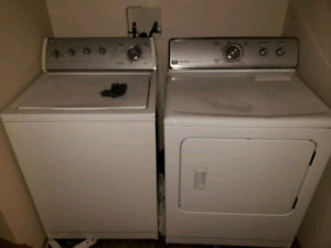 Whirlpool washer and maytag dryer.