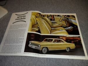 1967 ORIGINAL CHEVY 2 BROCHURE London Ontario image 2