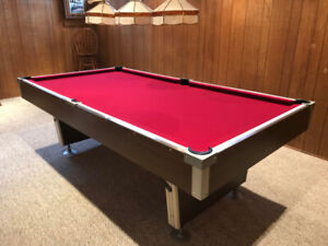 POOL TABLE, COVER AND ACCESSORIES