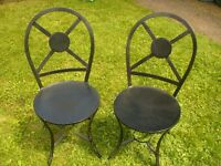Metal Patio Bistro Chairs