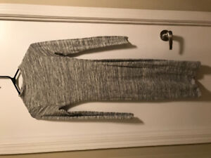 Bodycon long grey dress, Size XS