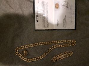 Gold chain bracelet ring gold mens gold